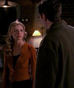 Buffy and Wesley in A:tS 1.19, Sanctuary